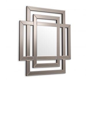 Espejo Mortimer de Eichholtz cristal de espejo bronceado