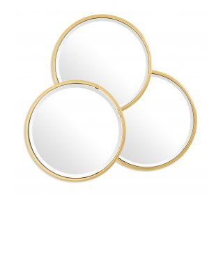 Espejo Sensation Round de Eichholtz con acabado dorado