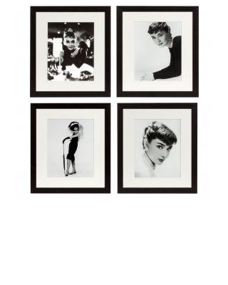 Conjunto de 4 retratos de Audrey Hepburn