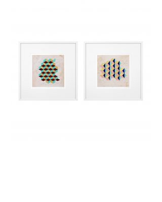 Impresiones artísticas Geometric Pattern Play (set de 2)