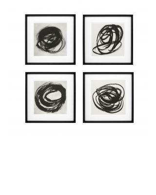 Impresiones artísticas Black & White Collection I (set de 4)