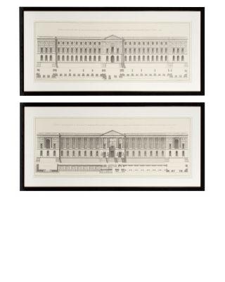 Impresiones La Façade du Louvre (set de 2)