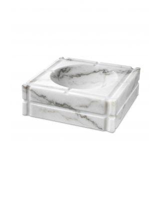 Cenicero Nestor de mármol blanco de Eichholtz