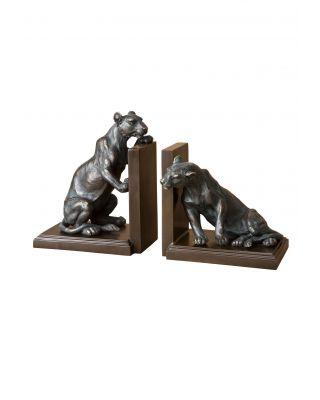Juego de 2 sujetalibros Lioness de Eichholtz