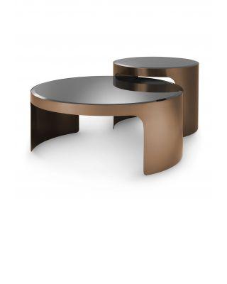 Mesa de centro Piemonte acabado cobre cepillado (set de 2)