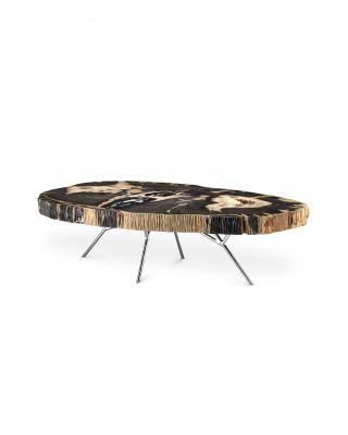 Mesa de centro Barrymore de madera petrificada oscura