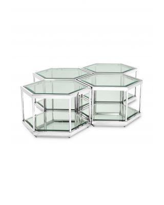 Conjunto 4 mesas de centro Sax