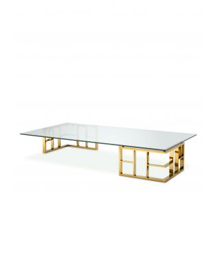 Mesa de centro Ramage con acabado dorado