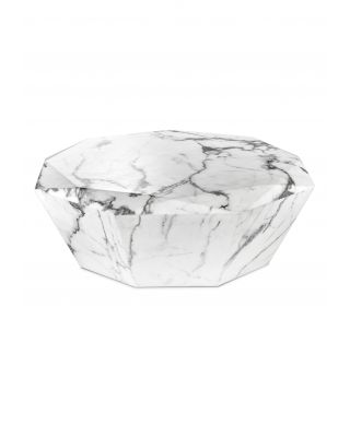 Mesa de centro Diamond acabado marmól blanco