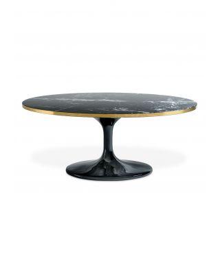 Mesa de centro ovalada Parme de Eichholtz color negro