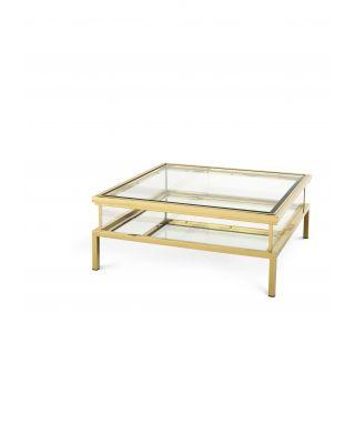 Mesa de centro dorada Harvey de Eichholtz