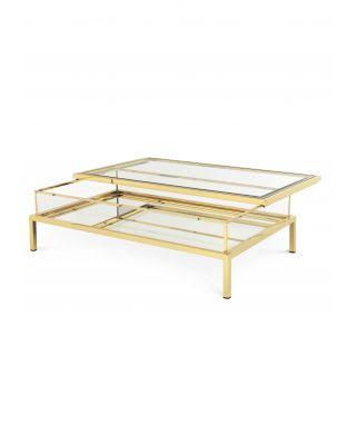 Mesa de centro dorada Harvey rectangular de Eichholtz