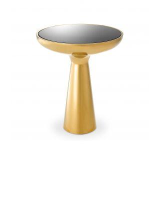 Mesa auxiliar Lindos modelo bajo y dorado