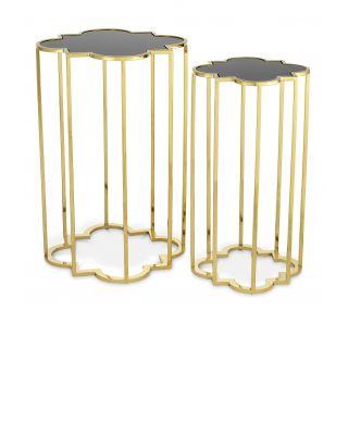 Mesas auxiliares doradas Concentric de Eichholtz (set de 2)