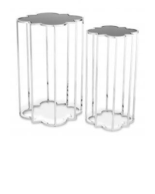 Mesas auxiliares Concentric niqueladas de Eichholtz (set de 2)
