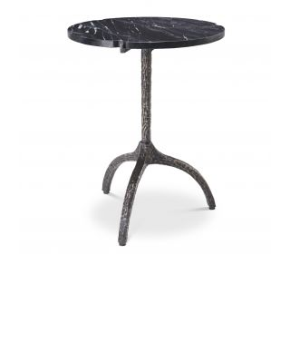 Mesa auxiliar Cortina de mármol negro de Eichholtz