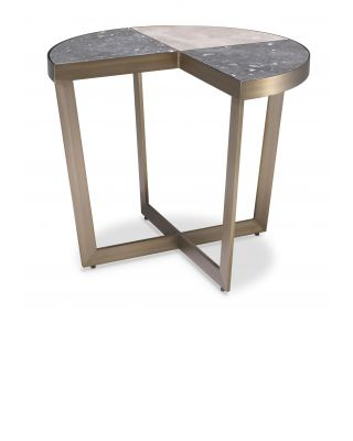 Mesa auxiliar Turino Grey & Ivory de Eichholtz