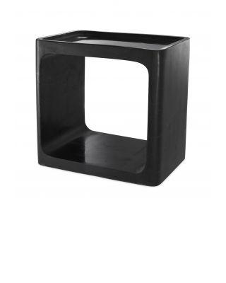 Mesa auxiliar Vesuvio de mármol negro pulido