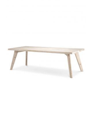 Mesa de comedor Biot 240 cm en roble blanqueado