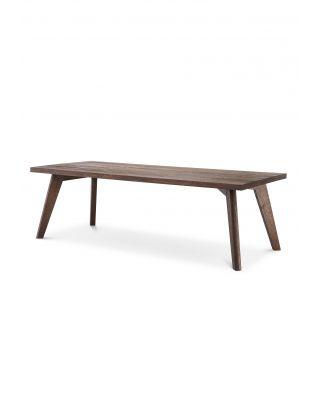 Mesa de comedor Biot 280 cm en roble marrón
