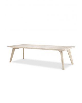 Mesa de comedor Biot 280 cm en roble blanqueado