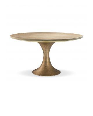 Mesa de comedor Melchior circular con acabado de latón dorado de Eichholtz
