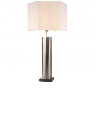 Lámpara de mesa plateada Viggo de Eiccholtz
