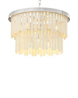 Lámpara de araña Arizona S de Eichholtz acabado níquel