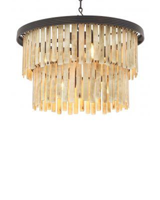 Lámpara de araña Arizona S de Eichholtz acabado bronce