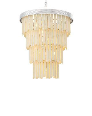Lámpara de araña Arizona L de Eichholtz acabado níquel