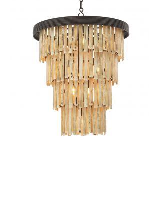 Lámpara de araña Arizona L de Eichholtz acabado bronce