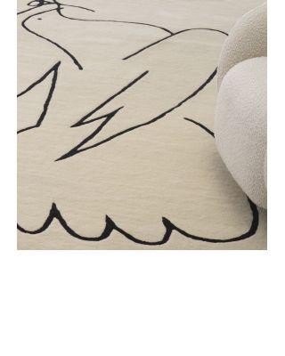 Alfombra 300 x 400 cm Piccione crema de Eichholtz