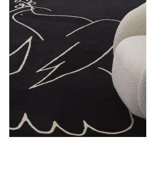 Alfombra 200 x 300 cm Piccione negra de Eichholtz