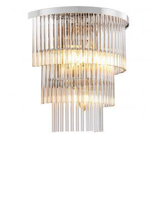 Lámpara de pared East de Eichholtz con acabado de níquel