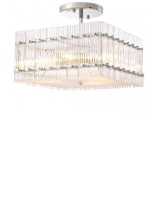 Lámpara de techo Ruby cuadrada de Eichholtz con acabado de níquel