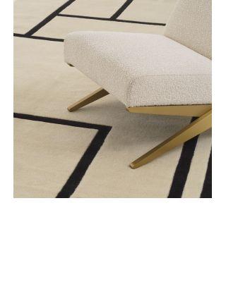 Alfombra 300 x 400 Omar de Eichholz blanco roto y negro