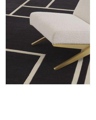 Alfombra 200 x 300 Omar de Eichholz negro y blanco roto