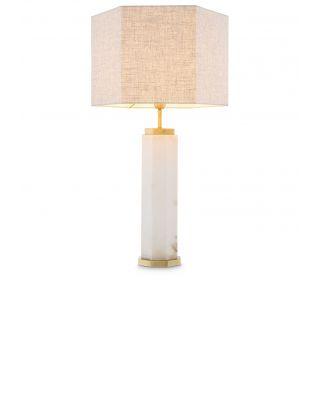 Lámpara de sobremesa Newman de Eichholtz de alabastro blanco