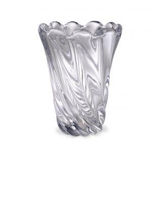 Jarrón Contessa S de cristal claro de Eichholtz