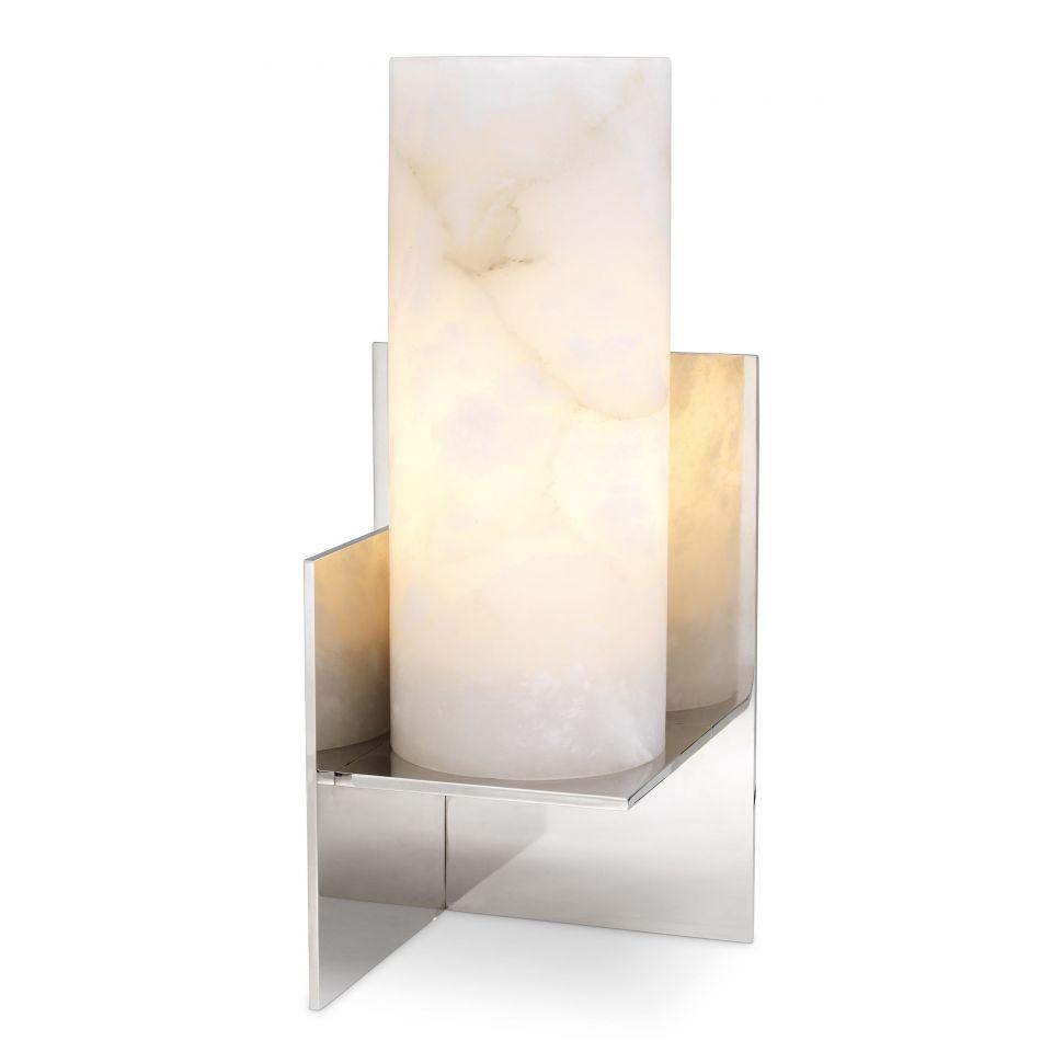 Lámpara de mesa Frisco níquel