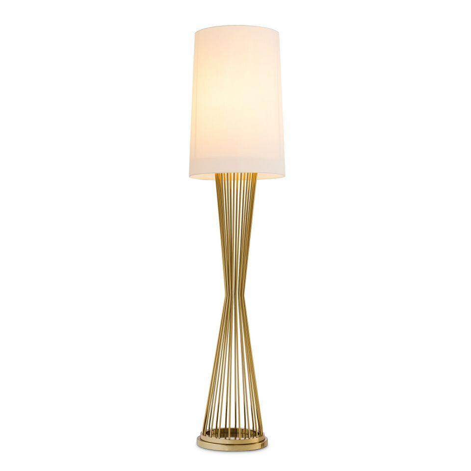 Lámpara de pie Holmes de Eichholtz acabado dorado