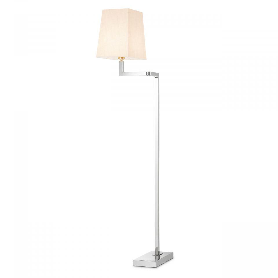 Lámpara de pie Cambell de Eichholtz con acabado niquelado