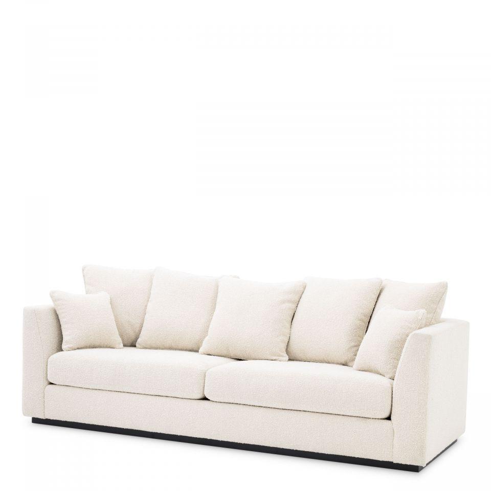 Sofá Taylor Lounge de Eichholtz tapizado crema bouclé