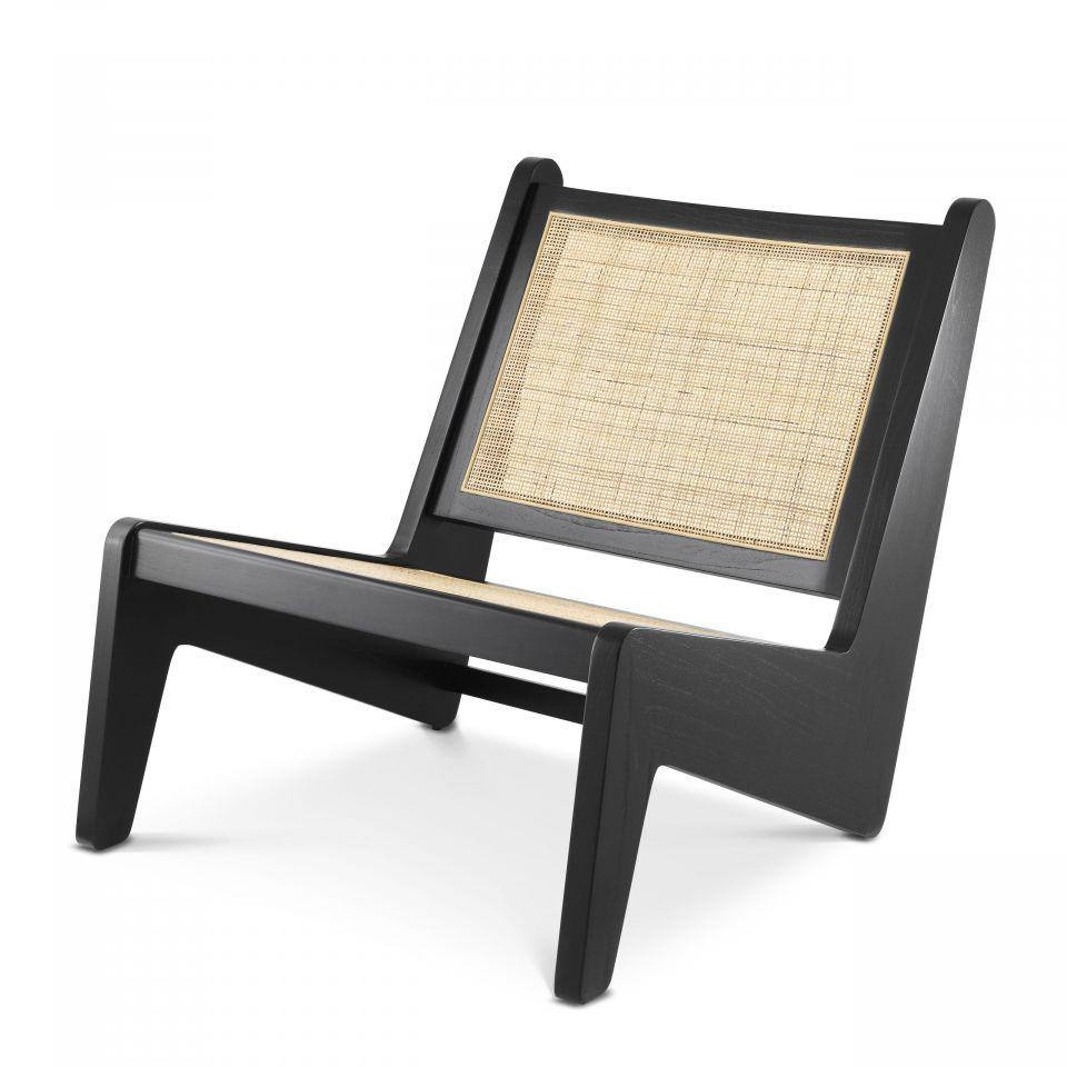 Silla Aubin de Eichholtz con acabado negro clásico