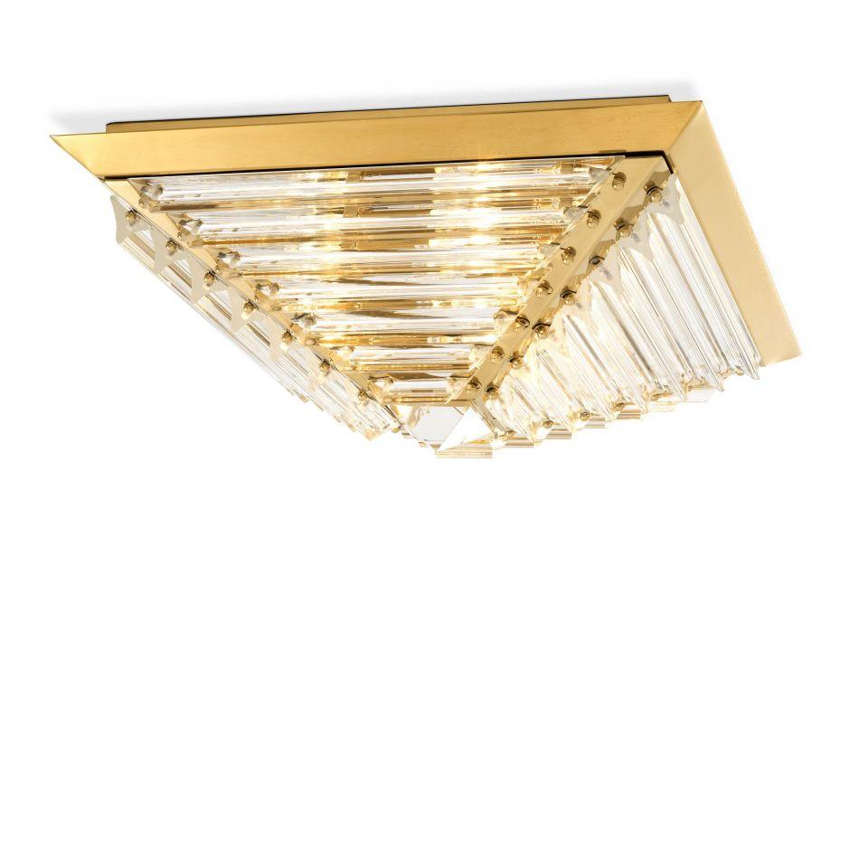 Lámpara de techo dorada Eden de Eichholtz
