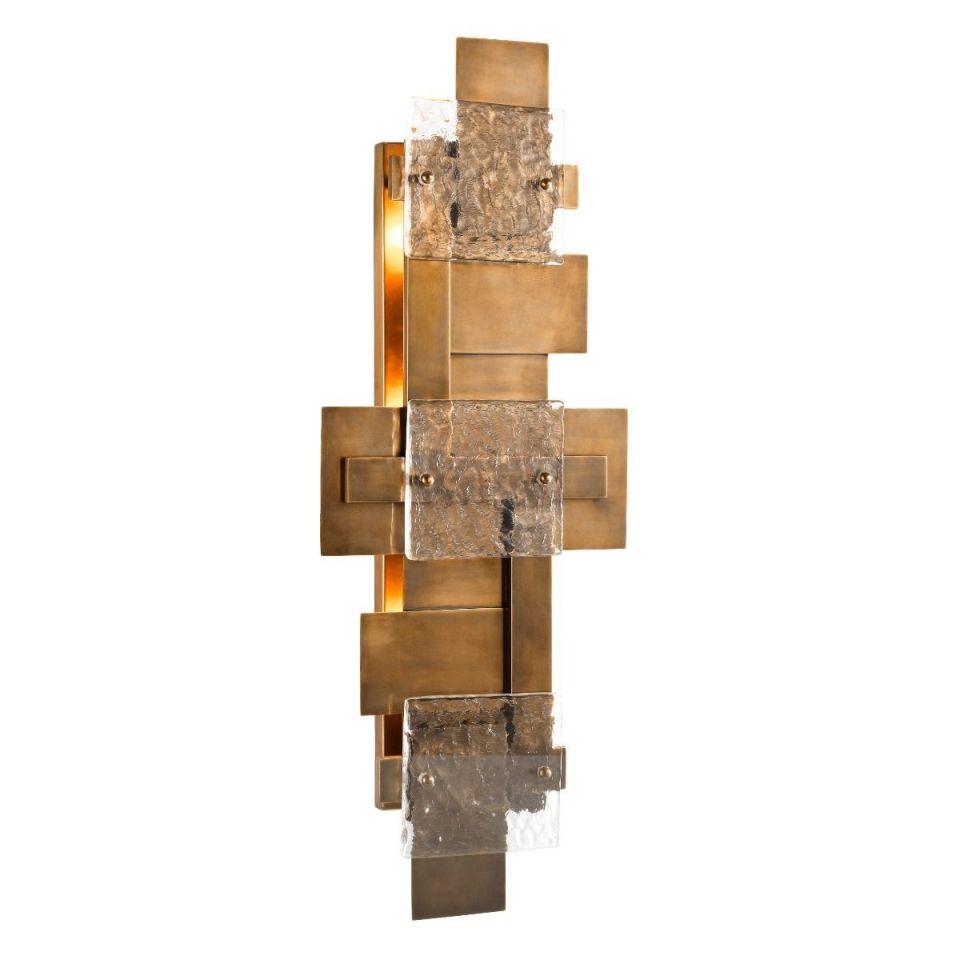 Lámpara de pared Langham dorada de Eichholtz
