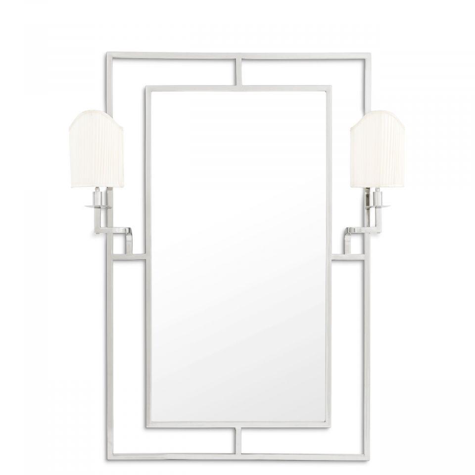 Espejo Astaire acabado niquelado de Eichholtz