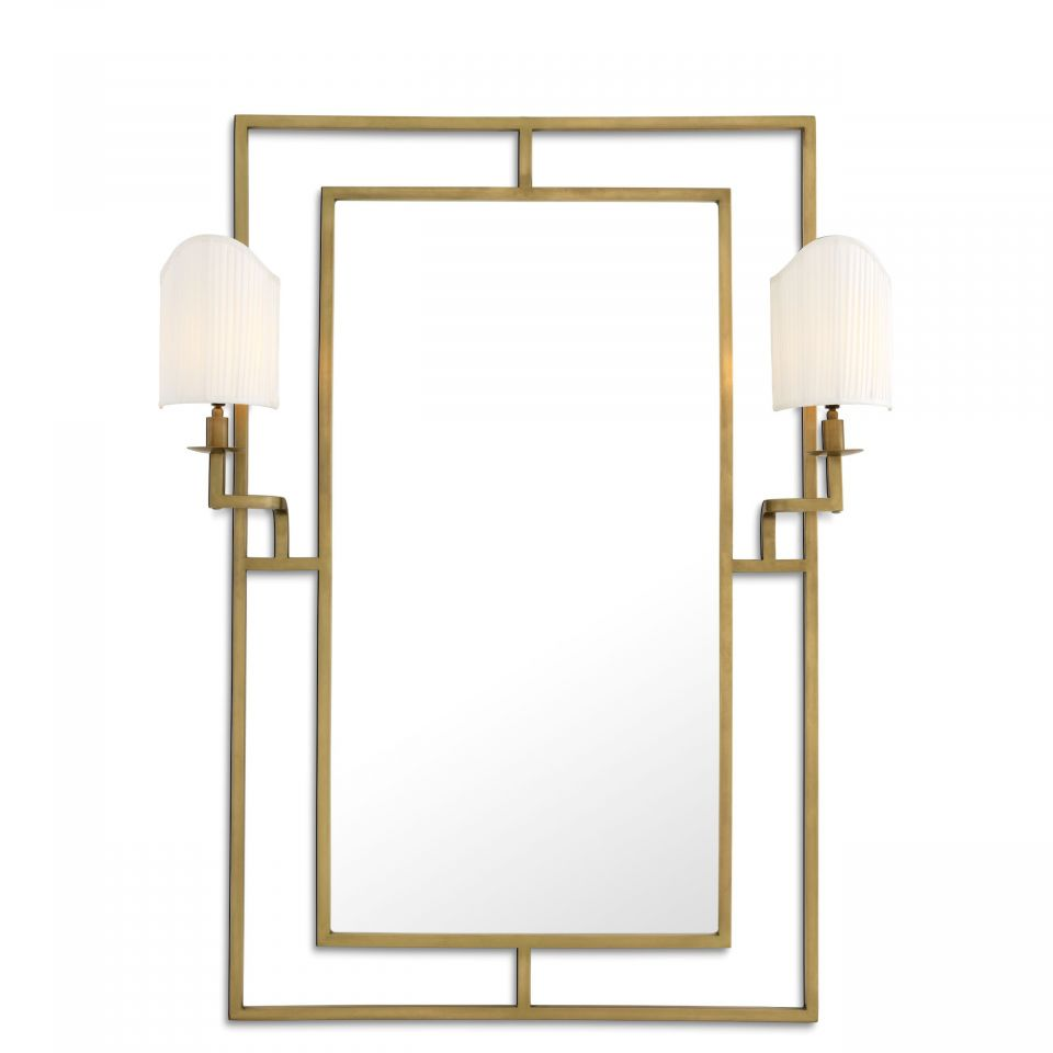 Espejo Astaire latón antigo de Eichholtz