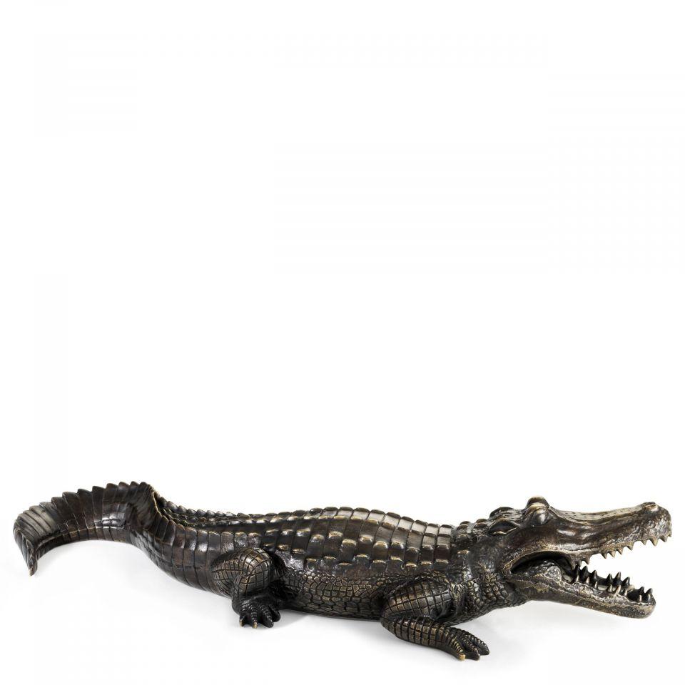 Figura Crocodile de bronce Eichholtz