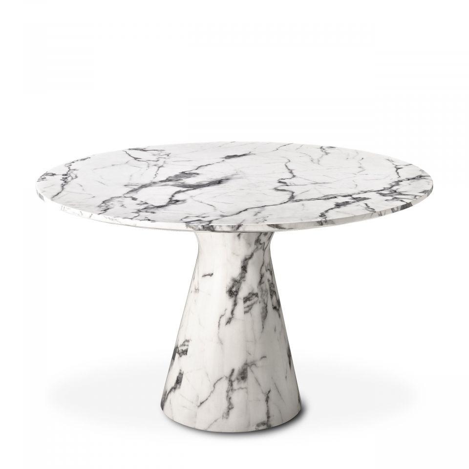 Mesa de comedor Turner de Eichholtz mármol blanco